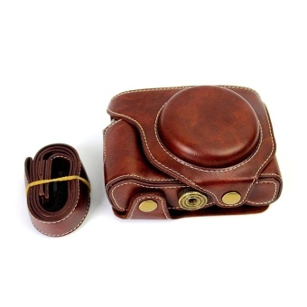 PU Leather Camera Case Bag Cover forFujifilmX70Coffee(CameraNotIncluded) - intl