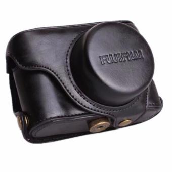 Pu Leather Camera Case Bag For Fuji X100F With Shoulder Strap - intl