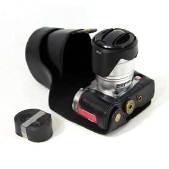 PU Leather Camera Case Cover for Fujifilm X-A3 XA316-50/18-55mmLens(Black) - intl