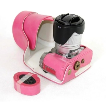 PU Leather Camera Case Cover for Fujifilm X-A3 XA316-50/18-55mmLens(Rose) - intl