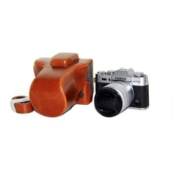 PU Leather Camera Case for Fujifilm X-T10 XT10 (Brown) - intl