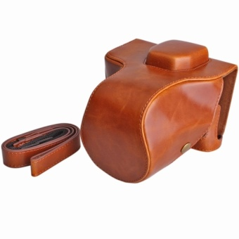PU Leather Camera Case for Fujifilm X-T2 XT2 18-55mm (Brown) - intl