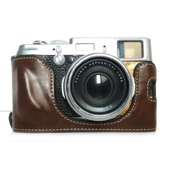 PU Leather Camera Case forFujifilmX100/x100s/x100m/x100t-A(Coffee)- Intl - intl