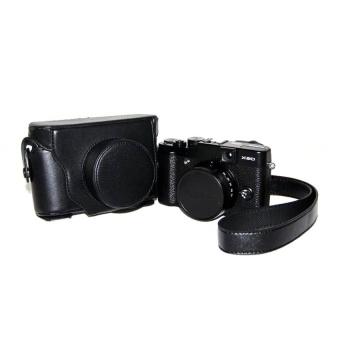 PU Leather Half Camera Case Bag Cover Base for Fujifilm X100100SBlack - intl