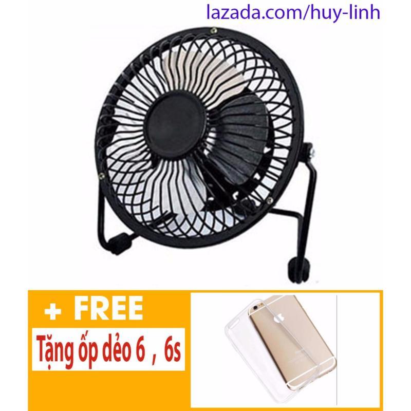 Bảng giá Quạt USB để bàn Mini Fan 15cm ( Đen ) + Free ốp dẻo trong suốt iphone 6 6s Phong Vũ