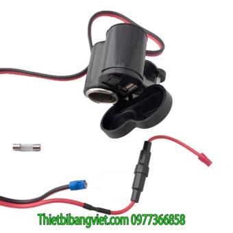 Sạc điện thoại 1.5A gắn trên xe máy và lỗ cắm tẩu hút thuốc 12VYF-122 - 5