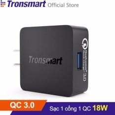 Sạc TRONSMART WC1T 1 cổng 18w Quick Charge 3.0 (Đen)