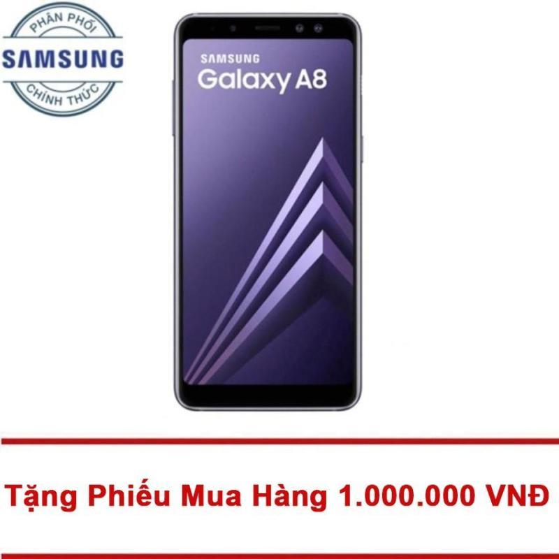 Samsung Galaxy A8 32GB RAM 4GB 5.6inch (Tím xám) - Tặng Mã Giảm Giá 1.000.000 VNĐ - Hãng phân phối chính thức