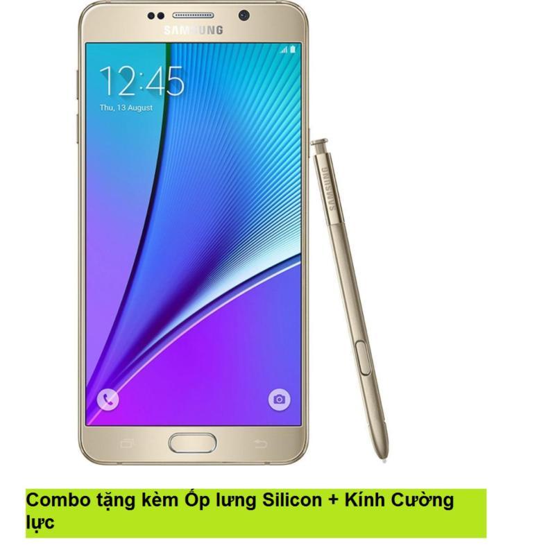 Samsung Galaxy Note 5 32GB (Vàng) + Ốp lưng Silicon + Kính cường lực - Hàng nhập khẩu