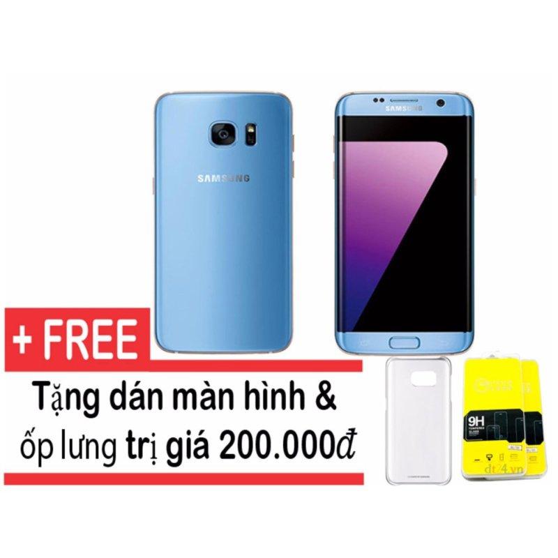 Samsung Galaxy S7 edge 32GB (Xanh coral) - Hàng nhập khẩu + Tặng ốp lưng và dán màn hình
