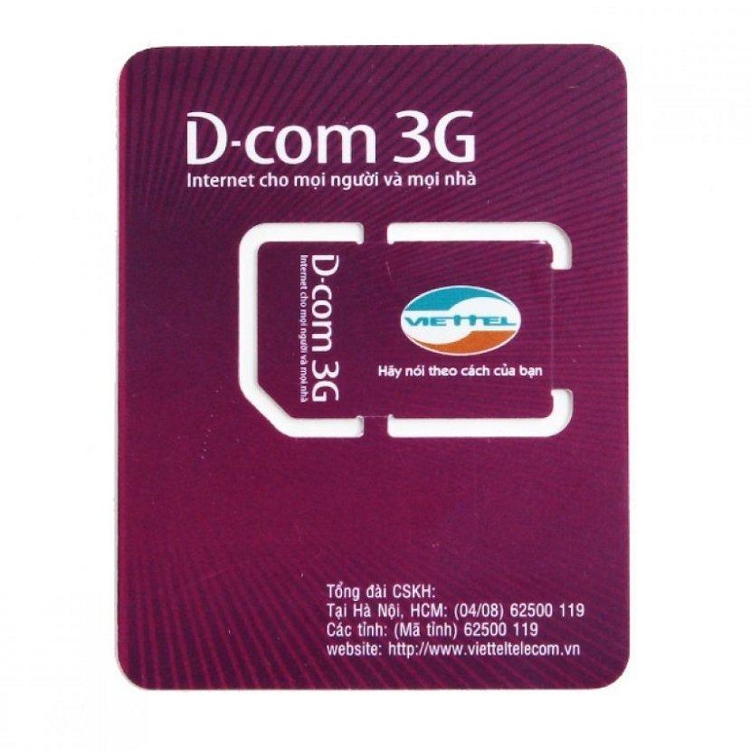Sim 3G Viettel trọn gói 6 tháng