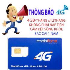 sim 4g mobi MDT250a 4gb/tháng trọn gói 1 năm không phải nạp tiền