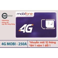 Sim Data 4G Mobi MDT250A – Trọn gói 1 năm – Miễn phí 4G/ Tháng  Đang Bán Tại Chuẩn Store