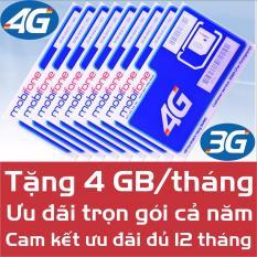 Sim Data 4G Mobi MDT250A – Trọn gói 1 năm – Miễn phí 4G/Tháng