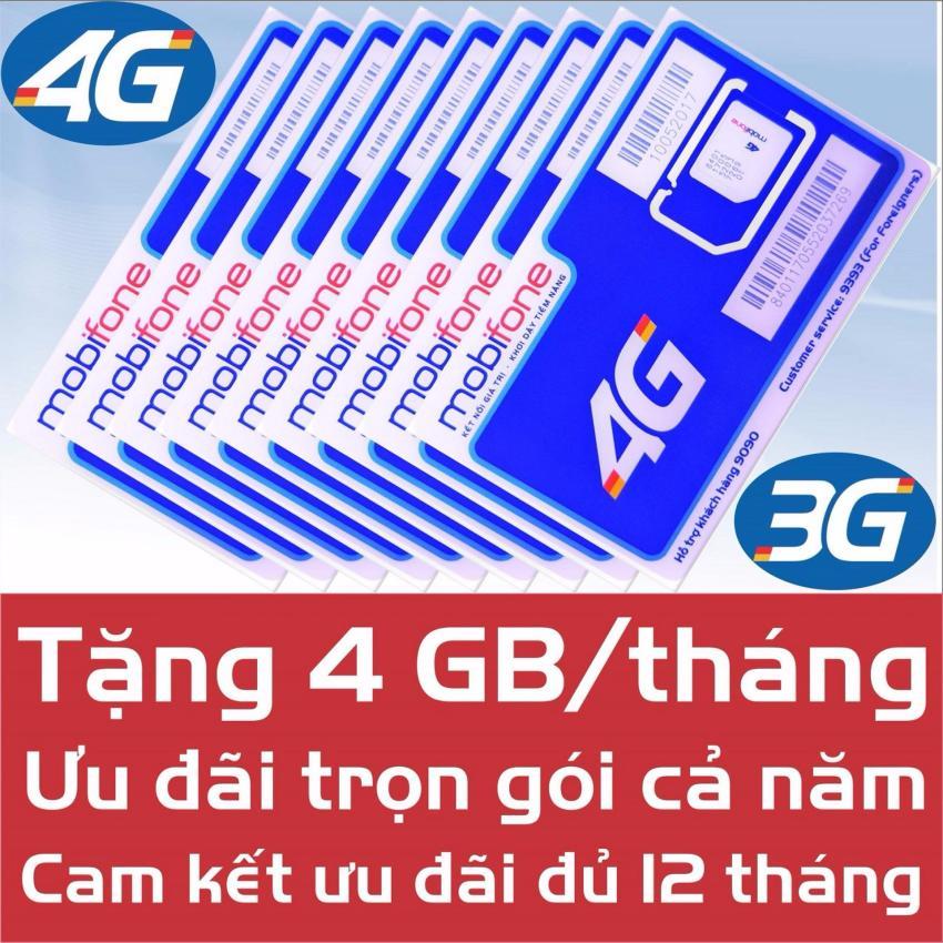 Hình ảnh Sim Data 4G Mobi MDT250A - Trọn gói 1 năm - Miễn phí 4G/Tháng