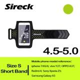 Sireck 5.0 inch Ngắn-ban nhạc Chống Nước Tay Ngoài Trời Chạy Cánh Tay Túi Cánh Tay Túi Đeo Tay Gói Chạy Bộ Tập Gym Đa Năng Di Động điện thoại Vòng Tay Da Ốp Lưng Giá Đỡ 4 Màu-quốc tế