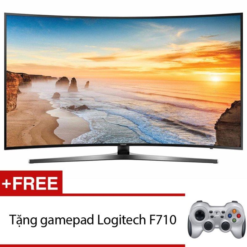 Bảng giá Smart Tivi Curve LED Samsung 43inch 4K – ModelUA43KU6500KXXV (Đen) + Tặng gamepad Logitech F710