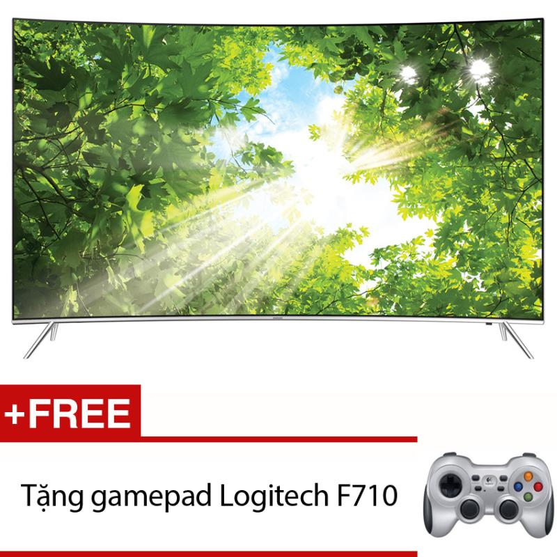 Bảng giá Smart Tivi màn hình cong 4K SUHD 49inch - Model 49KS7500 (Đen) + Tặng gamepad Logitech F710