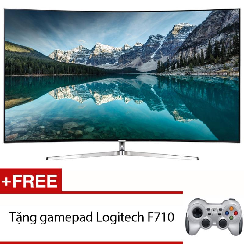 Bảng giá Smart Tivi màn hình cong 4K SUHD 65 inch – Model 65KS9000 (Đen) + Tặng gamepad Logitech F710