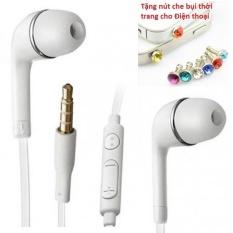Tai nghe dùng cho Samsung, Iphone, HTC... (thời trang cho các bạn trẻ) + Tặng Nút bịt chống bụi thời trang cho điện thoại