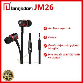 Tai nghe nhét tai Langsdom NEW EDITION JM26 Super Bass (Đen)