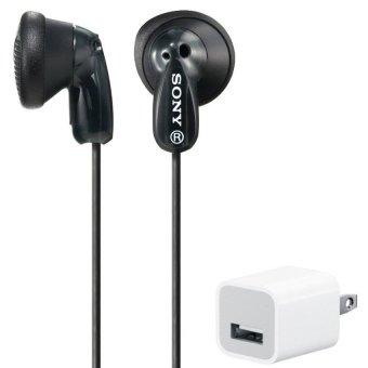 Tai nghe nhét tai Sony MDR-E9LP (Đen) và tặng Cốc sạc