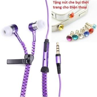 Tai nghe Thời trang Cao cấp Zipper (có khóa kéo chống rối) + TặngNút bịt chống bụi thời trang cho điện thoại - 8401136 , OE680ELAA5O0HPVNAMZ-10391261 , 224_OE680ELAA5O0HPVNAMZ-10391261 , 49600 , Tai-nghe-Thoi-trang-Cao-cap-Zipper-co-khoa-keo-chong-roi-TangNut-bit-chong-bui-thoi-trang-cho-dien-thoai-224_OE680ELAA5O0HPVNAMZ-10391261 , lazada.vn , Tai nghe Thời