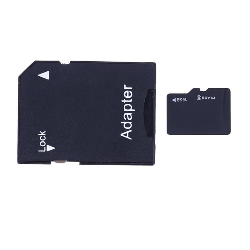 Bảng giá TF Card + SD Card Adapter + Mini Plastic Shell Card Reader (Random Color)(Black)-16G - intl Phong Vũ