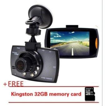 The G30 Car Camera Vehicle DVR Dash Cam Full HD 1080P LCD CamcorderVehicle Safeguard Cam Night Vision Recorder +32gb MemoryCarde_black - intl