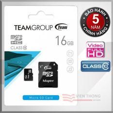 Thẻ nhớ 16GB Class10 Team Group INC Micro SDHC (Đen) Adapter - Chính hãng