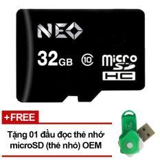 Thẻ nhớ 32GB NEO micro SDHC – Tặng đầu đọc micro (Mẫu ngẫu nhiên)