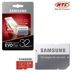 Thẻ nhớ MicroSDHC Samsung Evo Plus 32GB UHS-I U1 95MB/s kèm adapter box Anh - Model 2018 (Đỏ)