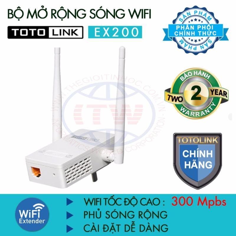 Bảng giá Thiết bị mở rộng sóng WiFi TOTOLINK EX200 (Trắng) - Hãng phân phối chính thức