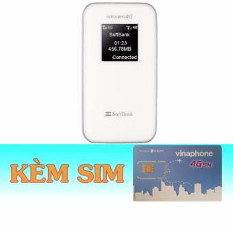 Thiết Bị Phát Wifi 3G/4G Softbank 102Z+Sim 4G Vinaphone giá rẻ trọngói 6 tháng