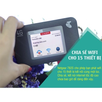 Thiết bị phát wifi 4G/3G NETGEAR tốc độ cao, màn hình cảm ứng tiện lợi