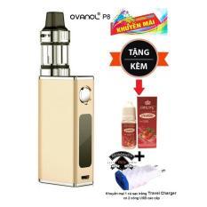 Thuốc lá điện tử Vape - Shisha 50W siêu khói OVANCL P8 Box VAPE KIT (Gold) + Quà tặng 1 lọ tinh dầu + 1 củ sạc trắng Travel Charger có 2 cổng USB  – Hàng nhập khẩu