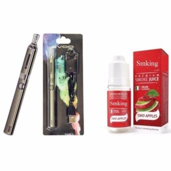 Thuốc lá Shisha điện tử Vape Evod EGO (Bạc)+1 Tinh dầu+1 buồng đốtdự phòng
