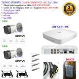 Hình ảnh Trọn bộ 1 đầu ghi hình 4 kênh CHUẨN HD DAHUA DHI-XVR4104C + 2 Camera DAHUA DH-HAC-HFW1000RP +1 ổ cứng Seagate 160GB+2 nguồn 12V+4 Rắc BNC+1 dây HDMI
