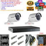 Hình ảnh Trọn bộ 1 đầu ghi hình Camera 4 KÊNH FULL HD 1080P cao cấp Hikvision DS-7204HGHI-F1 + 2 Camera FULL HD 1080P DS-2CE16D0T-IRP + 1 ổ cứng Seagate /WD 320GB + 2 Nguồn nhện xịn 12V + 4 Rắc BNC + 1 dây HDMI