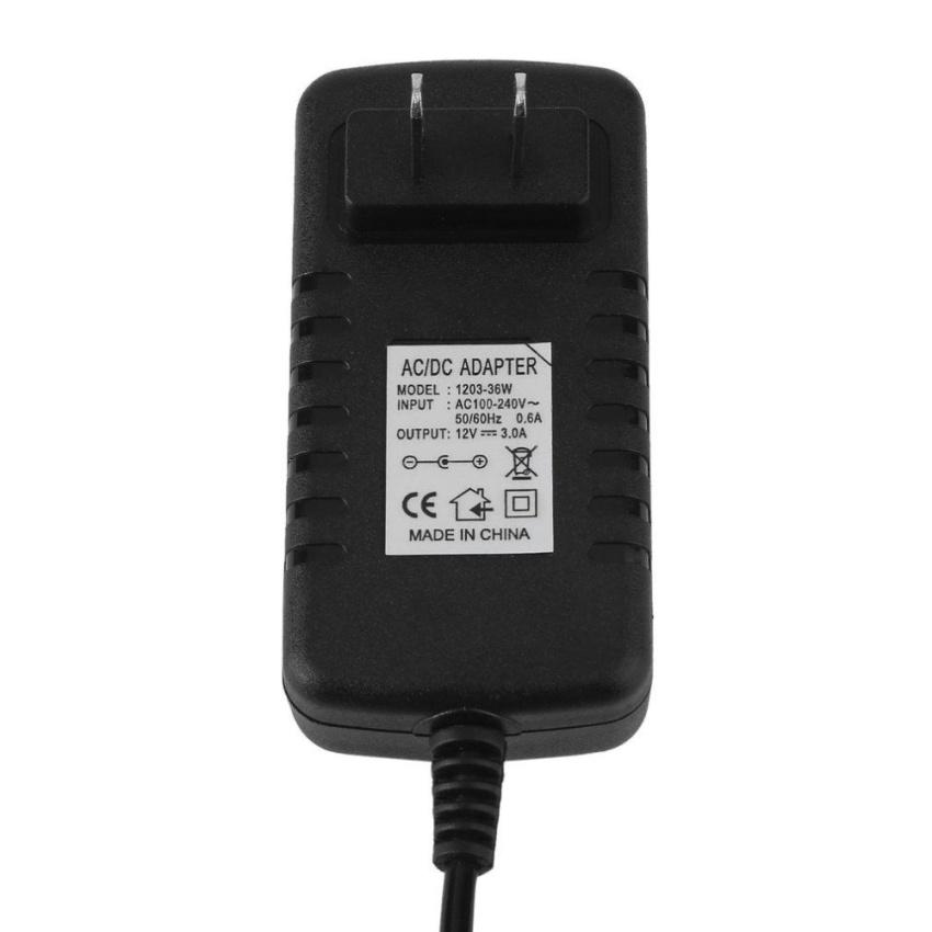 Hình ảnh UINN Universal DC12V 3A 36W 3.5mm*2.1mm Power Supply Adapter Converter 100-240V US Plug - intl
