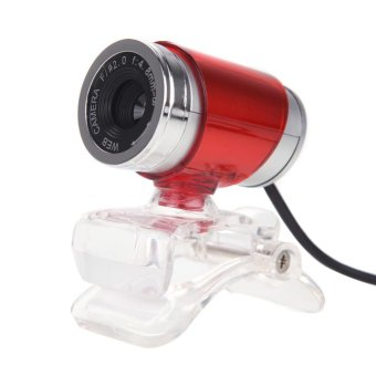 USB 12MP HD Webcam Computer Camera with MIC(Red) - intl
