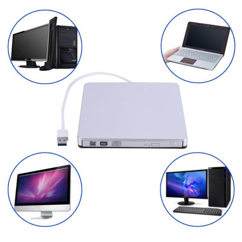Bảng giá USB 3.0 External DVD/CD-RW Drive Burner Slim Portable Driver For Netbook MacBook Laptop PC - intl Phong Vũ