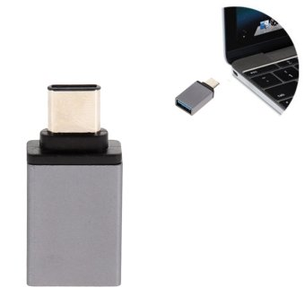 """USB-C 3.1 Type C Male to USB 3.0 Female Adapter for MacBook 12""""(Gray)(Intl)"""