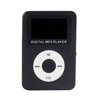 USB Digital MP3 Player LCD Screen Support 32GB Micro SD TF CardBlack - intl