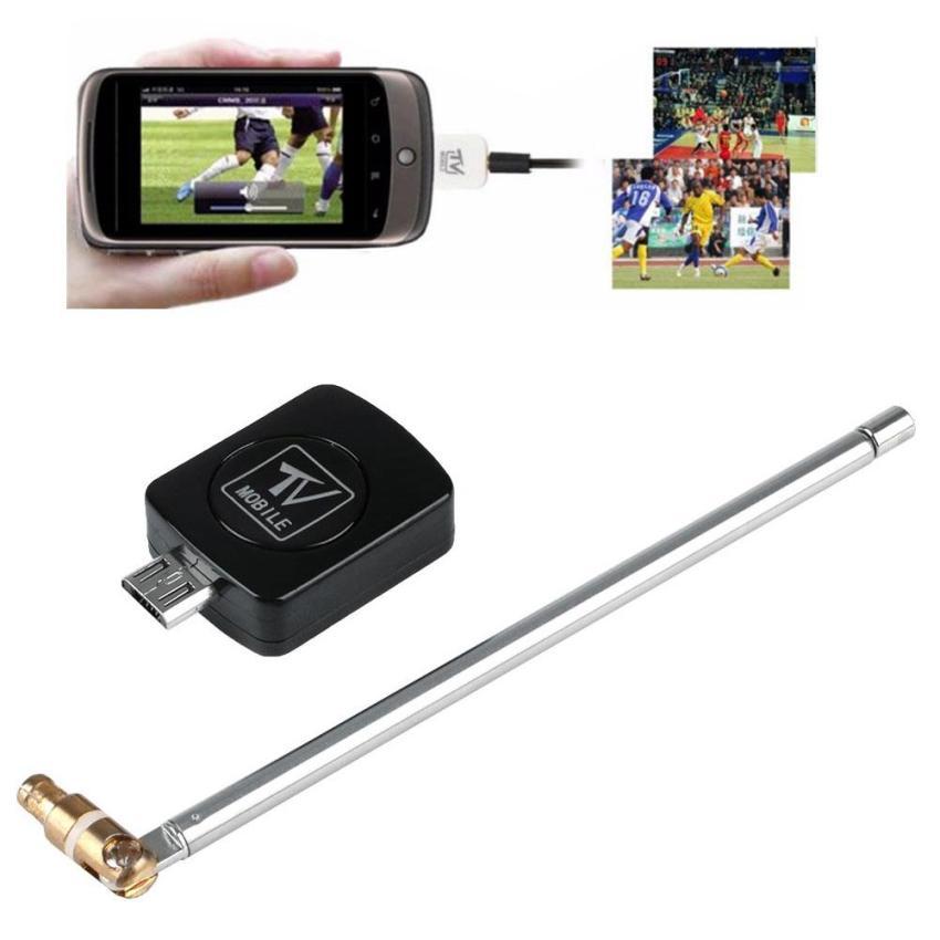 USB DVB-T Digital TV Tuner Receiver For Android Smartphone Tablet PC HDTV Black