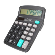 vishine mall-Office 12-Digits Desktop Electronic Calculator Dual Power Supply Solar & Battery – intl