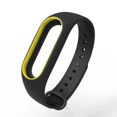 Vòng đeo tay thay thế MIJOBS cho Xiaomi Miband 2, mi band 2 (đen viền vàng)
