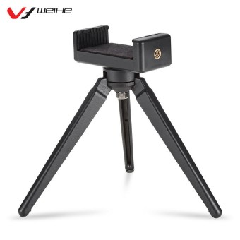WEIHE Aluminum Alloy Portable Tabletop Tripod with Phone Holder for DSLRs Camera Cellphone - intl