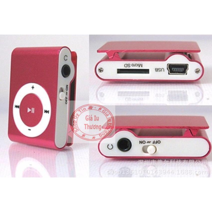 (Xem video)Máy nghe nhạc MP3(màu tùy ý) vỏ nhôm kẹp áo+cáp sạc truyền dữ liệu(dùng như đầu đọc usb)