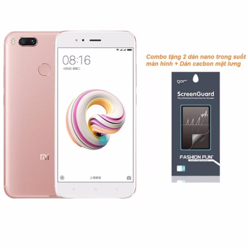 Xiaomi Mi5X 64GB 4GB Ram (Hồng) + 2 Dán Nano màn hình + Dán cacbon mặt lưng - Hàng nhập khẩu